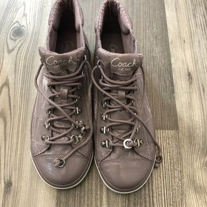 Coach Gwendolyn Patent Leather Hightop Sneakers 9